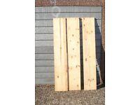 Pine wood panels/shelves
