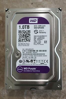 "Western Digital 1TB,Internal,5400RPM,3.5"" (WD10PURX) HDD, CCTV 10 PURX HDD, used for sale  Shipping to Nigeria"
