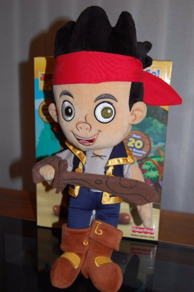 Plush Jake the Pirate from Disney store - used but like new