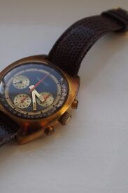 Thermidor manual wind mechanical chronograph wristwatch - France - 20th century - Valjoux 7736