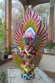 Balinese deity sculpture