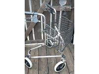 Walking Aid with wire basket