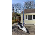 Hobie Revolution 11 Kayak with Outriggers and Sail