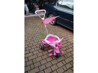 Girls Smart Trike Bike / Pushalong
