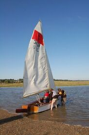 """Seafly 388"" 15ft marine-ply Sailing Dinghy."