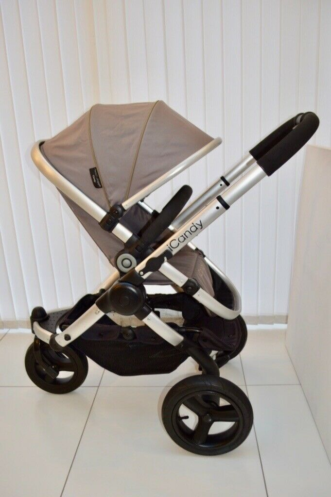 ICANDY PEACH 1 2 3 LEATHER BUMPER BAR HANDLE MAIN SEAT CARRYCOT JOGGER