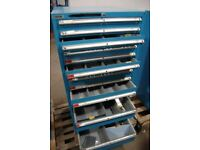 Dexion secure lockable heavy duty storage cabinet. Ideal for tools and parts. Great condition.