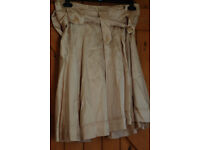 Chloe, See size 12 beige silk knee length skirt with shop tags still on