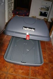 Halfords Top Box and Roof Bars