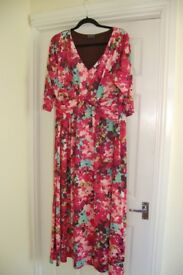 Gorgeous maxi dress by Grace, 3/4 sleeves, size 20, worn once, machine washable.