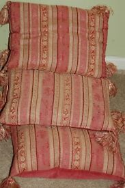 4 X VINTAGE LAURA ASHLEY FEATHER FILLED CUSHIONS