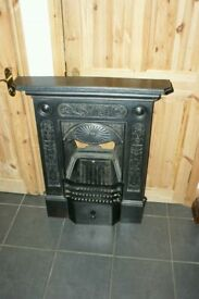 Beautiful wrought iron fire place and grate
