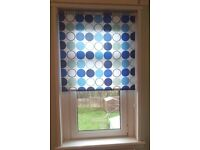 Circles Roller Blind Blue White Green