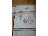 Ellie and Raff blanket (114x94cm) and Cot bumper set £9