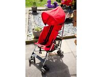 Red Lightweight Fold-up Baby/ Toddler Buggy