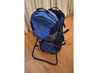 Kelty Kids back pack (child carrier) in blue, w/ storage compartments