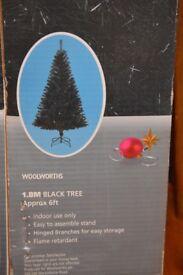 Christmas Tree Vintage Black Flame Retardant
