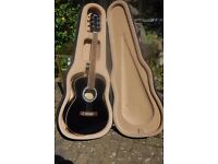 ARIA BLACK ACOUSTIC GUITAR