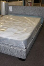 NEW UNUSED. 5ft King size upholstered bed frame bedstead. Showroom display, as new