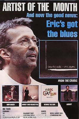 Eric Clapton 1994 From The Cradle Original UK Tour Promo Poster