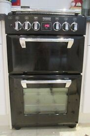 STOVES Freestanding BLACK 550DFW Dual Fuel Mini Range Cooker 2 ELECTRIC OVENS (1 with FAN) GAS Hob