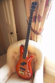 Spector Legend 4 string custom amber maple electric bass guitar from the USA - paid $1800