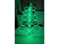 Outdoor green led silhouette tree, 80cm xmas decoration, christmas decorations.