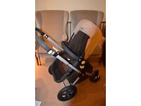 bugaboo cameleon 2 brown and sand fabric