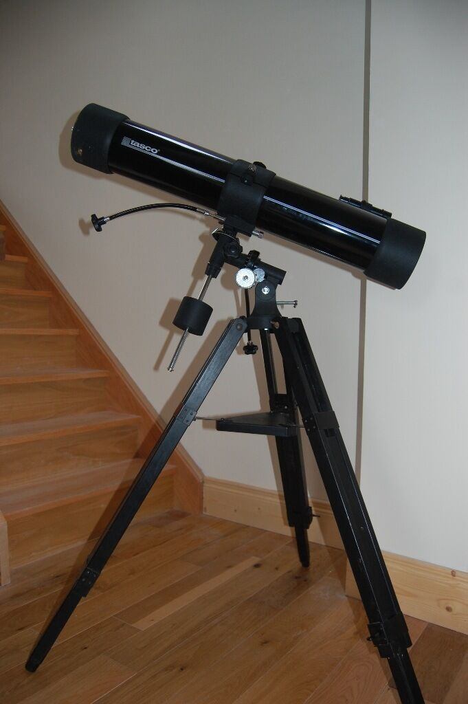 astronomical telescope. tasco 302012. used. includes tripod, two ...