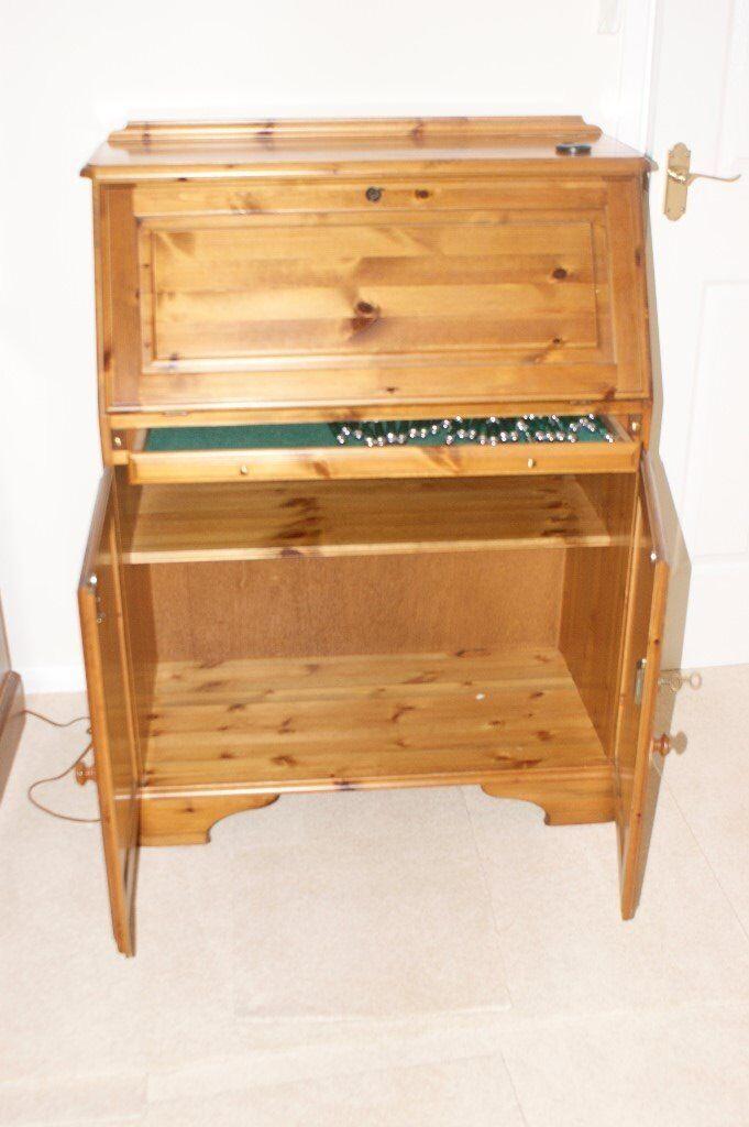 Ducal Solid Pine wood bureau