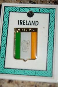 Irish-TRICOLOUR-Flag-with-HARP-Crest-Clip-Badge-Brooch-Ireland