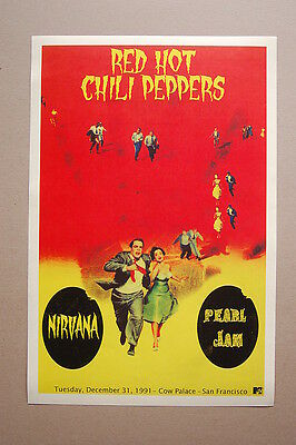 RHCP American Rock Band Music Poster Hot Gift W001 Art Red Hot Chili Peppers