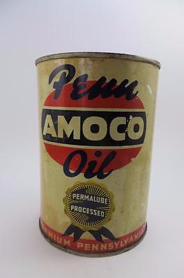 VINTAGE PENN AMOCO  OIL CAN AMERICAN OIL COMPANY 1 QT.