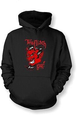 Teufel Hoodie (Kapuzenshirt Hoodie Teufel Devil FUN Gr. S - XXL Teuflisch gut)