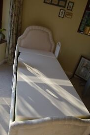 As new Single adjustable electric bed