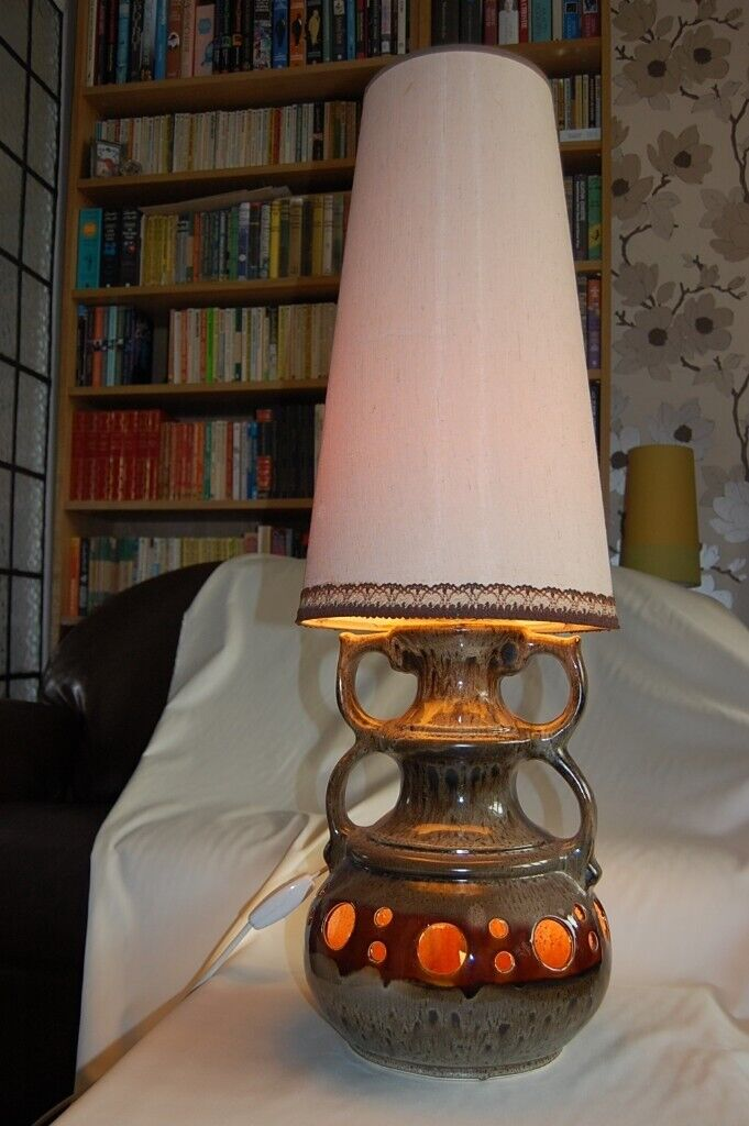 Vintage Retro West German 1960s 70s Large Fat Lava Lamp With Shade In Sutton Coldfield West