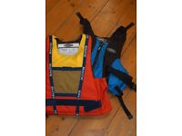 Life Jackets. One adult One child used once or twice so immaculate. Makers Baltic and Yak