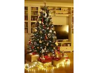 Tesco 6ft Pre-lit Evergreen Christmas Tree