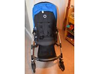 Bugaboo bee plus with royal blue hood raincover + footmuff excellent condition