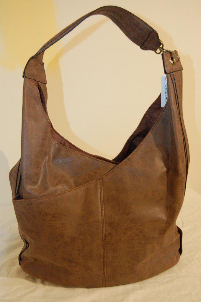 Shoulder bag by George in Suedeette