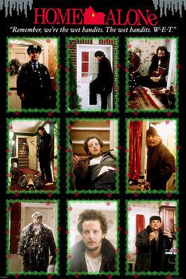 Home Alone Poster (HOME ALONE 24x36 POSTER MACAULAY CULKIN JOE PESCI CLASSIC CHRISTMAS MOVIE)