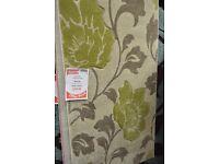 Designer Carved Pile Green Beige Floral Rug 80cm x 150cm (Display, perfect conditon) RRP £80
