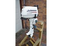 Johnson 4-stroke 5hp outboard (Just Had Full Service) Not Mercury, Mariner, Yamaha, Suzuki