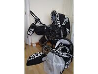 3 in 1 Travel System- incl. Pram, Car Carrier Seat and Sport Buggy - used for only one child