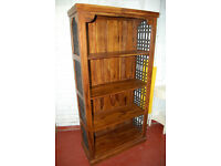 Real wood / bookcase / shelving unit / display unit