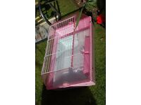 pink pet cage for sale