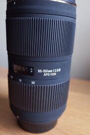 Sigma 50-150 2.8 EX DC HSM II for Nikon DX