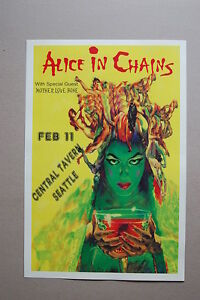 Alice in Chains Concert Tour Poster 1989 Mother Love Bone Central Tavern Seattle