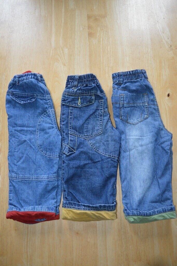 3 x boys jeans 12 -18 months ( NEXT, TU)
