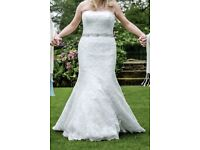 Bespoke Lace Wedding Dress 10/12 RRP £1399 selling for £299